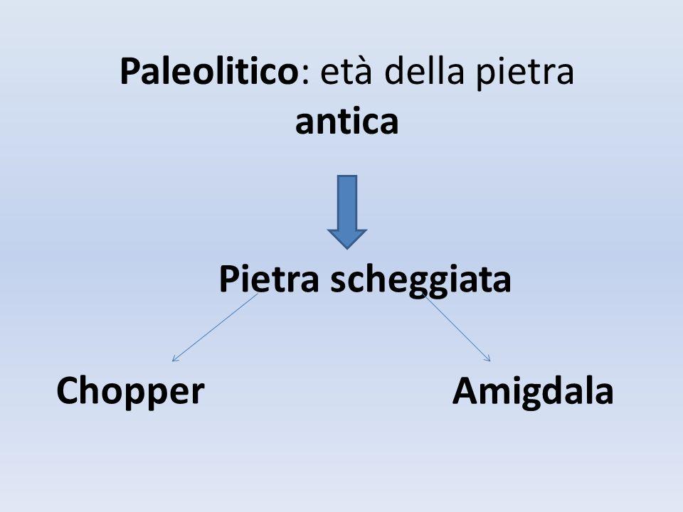 Paleolitico: età della pietra antica
