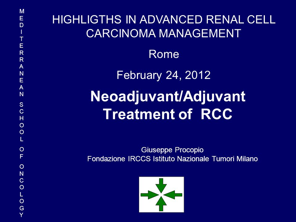 Neoadjuvant/Adjuvant Treatment of RCC
