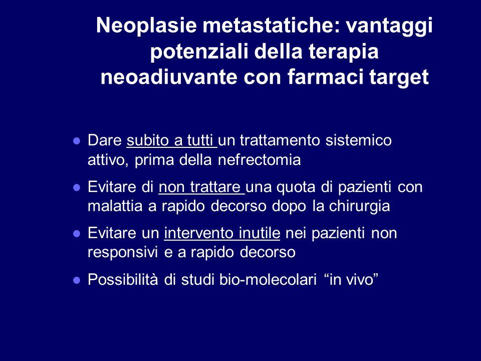 Neoplasie metastatiche: vantaggi potenziali della terapia neoadiuvante con farmaci target