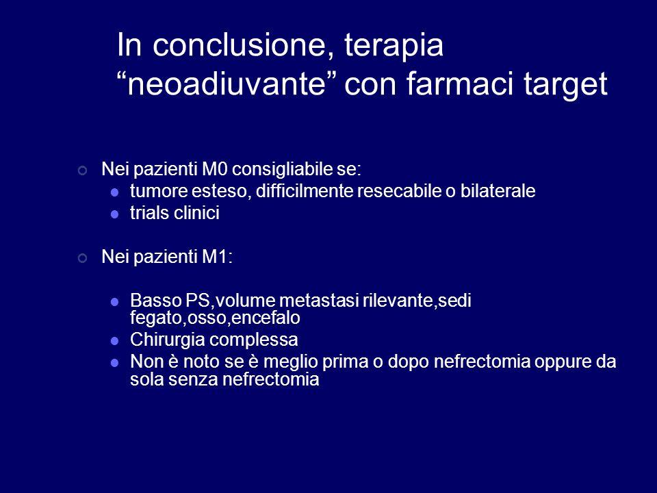 In conclusione, terapia neoadiuvante con farmaci target