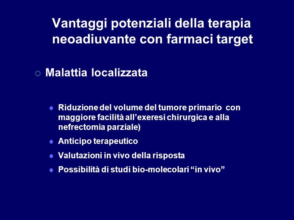 Vantaggi potenziali della terapia neoadiuvante con farmaci target