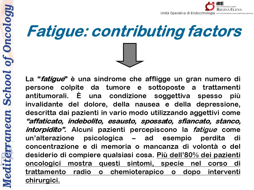 Fatigue: contributing factors