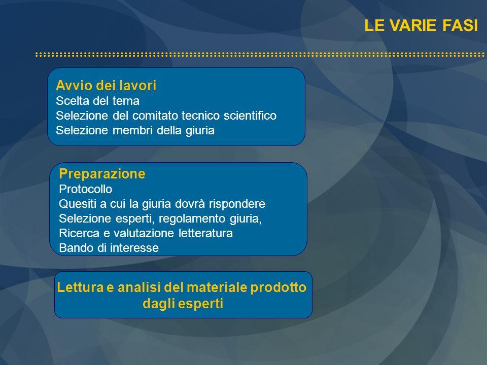 Lettura e analisi del materiale prodotto