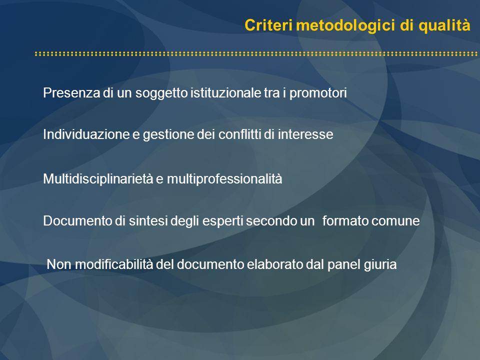 Criteri metodologici di qualità
