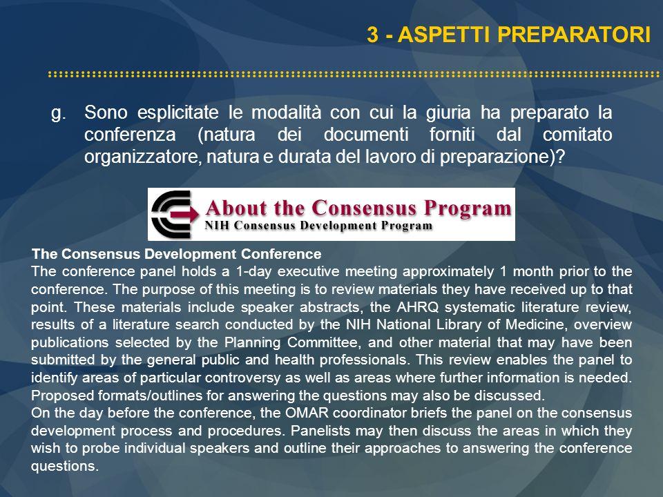 3 - ASPETTI PREPARATORI