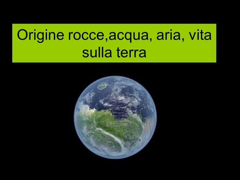 Origine rocce,acqua, aria, vita sulla terra