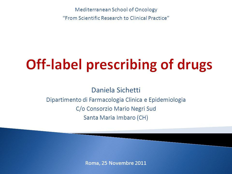 Off-label prescribing of drugs