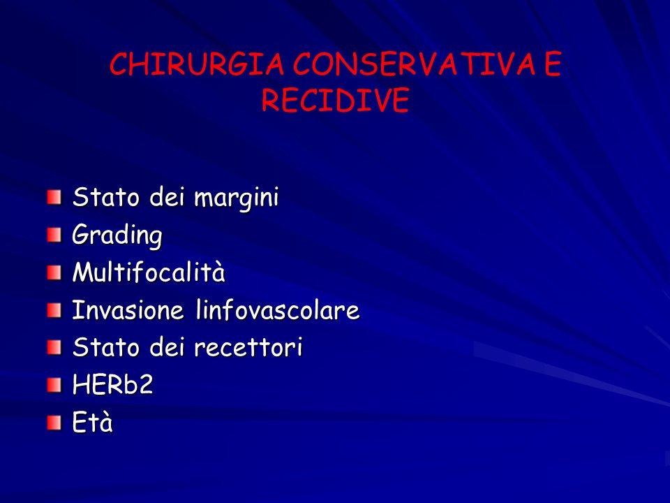 CHIRURGIA CONSERVATIVA E RECIDIVE