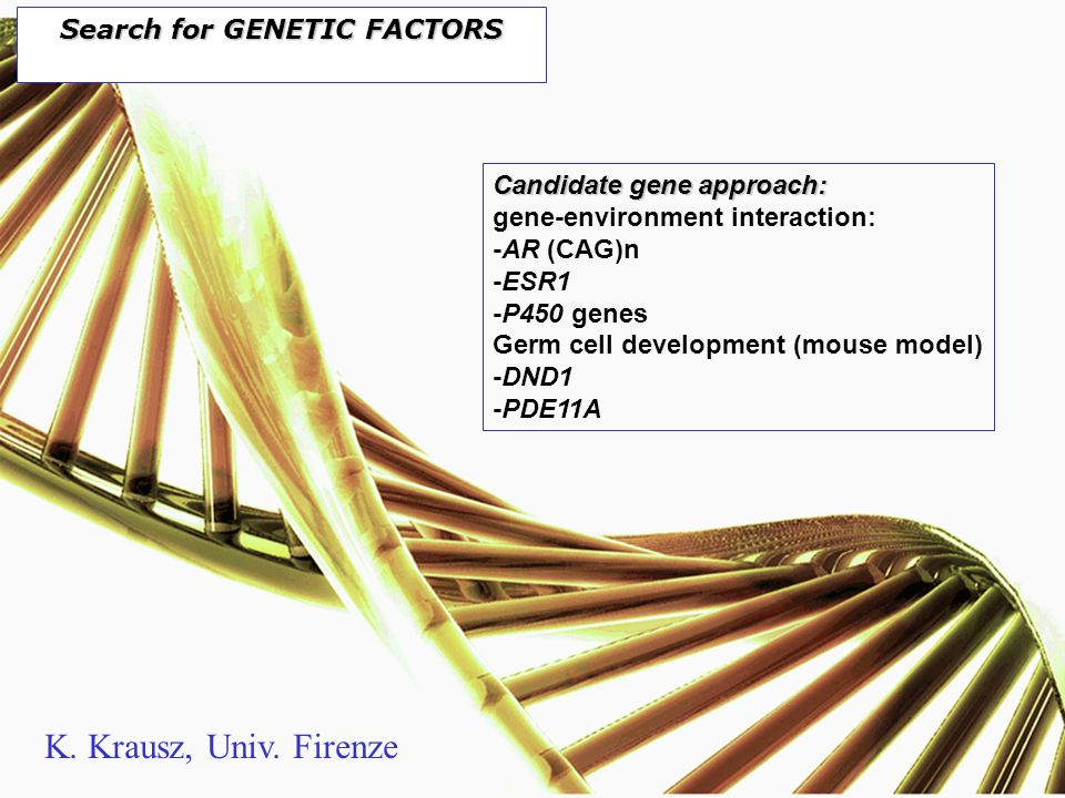 Search for GENETIC FACTORS
