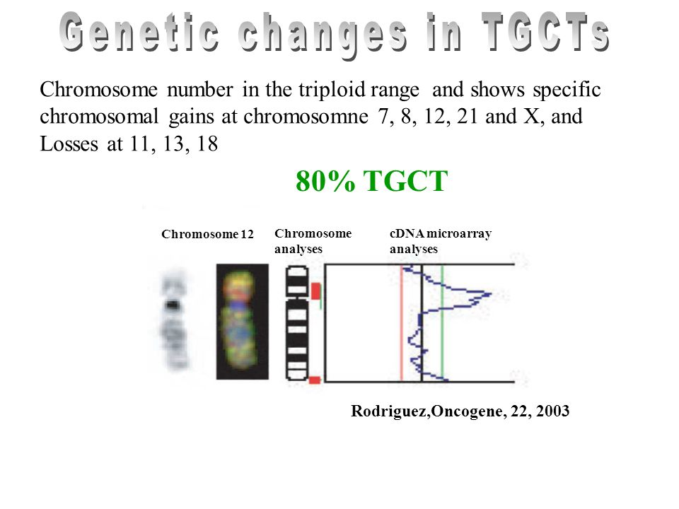 Genetic changes in TGCTs