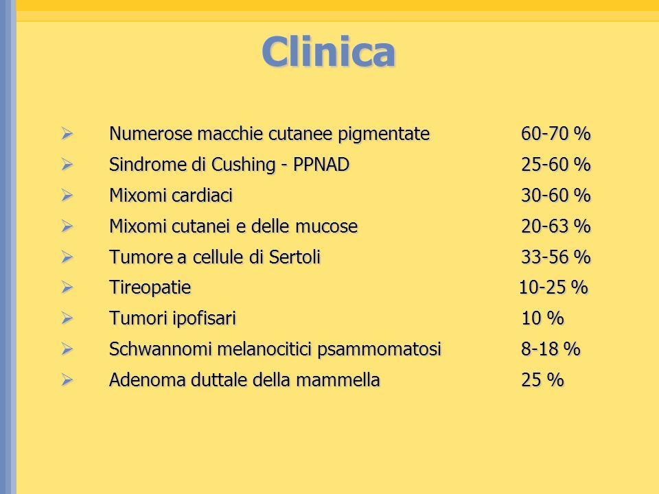 Clinica Numerose macchie cutanee pigmentate 60-70 %