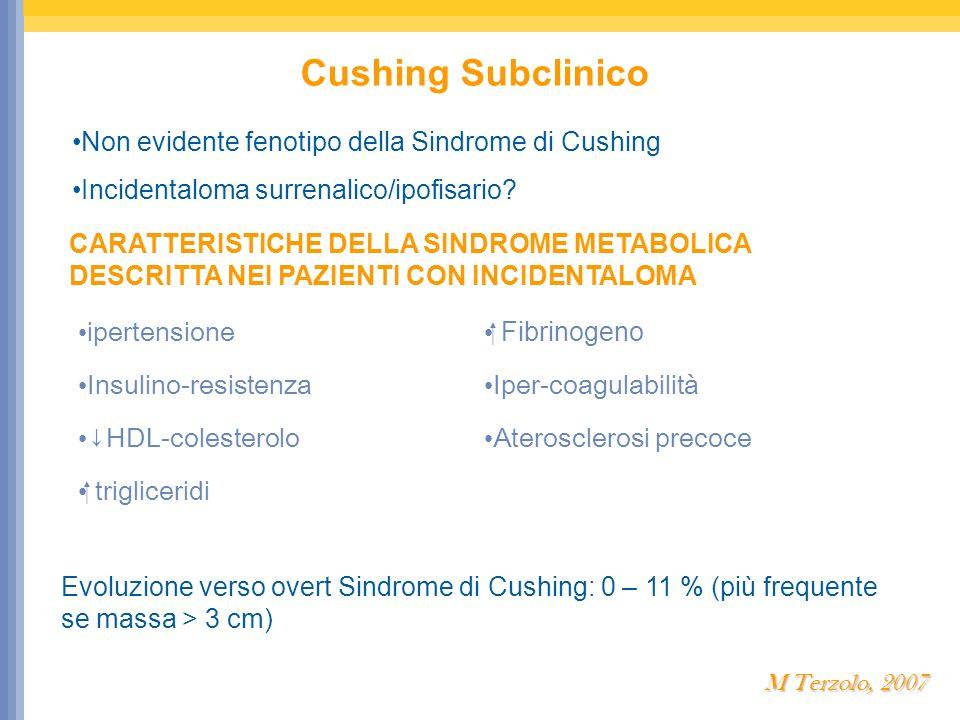 Cushing Subclinico Non evidente fenotipo della Sindrome di Cushing