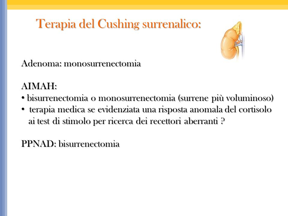 Terapia del Cushing surrenalico: