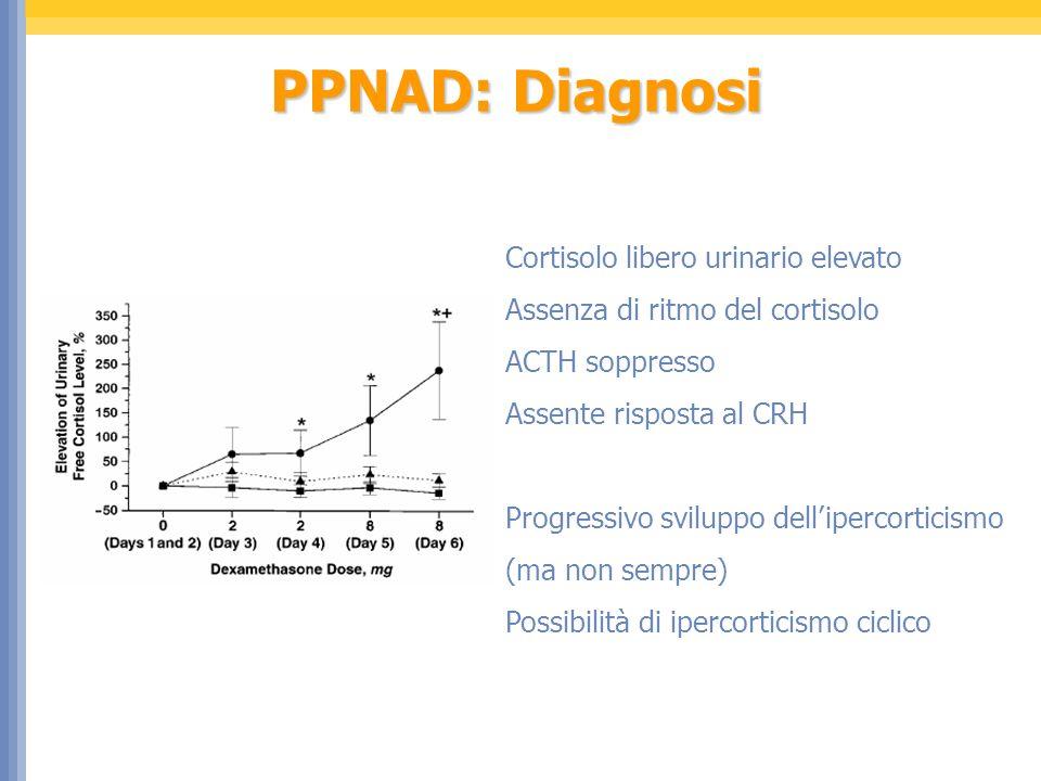 PPNAD: Diagnosi Cortisolo libero urinario elevato