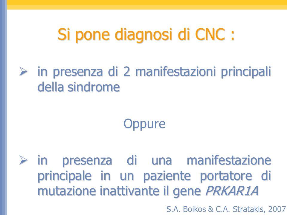 Si pone diagnosi di CNC :
