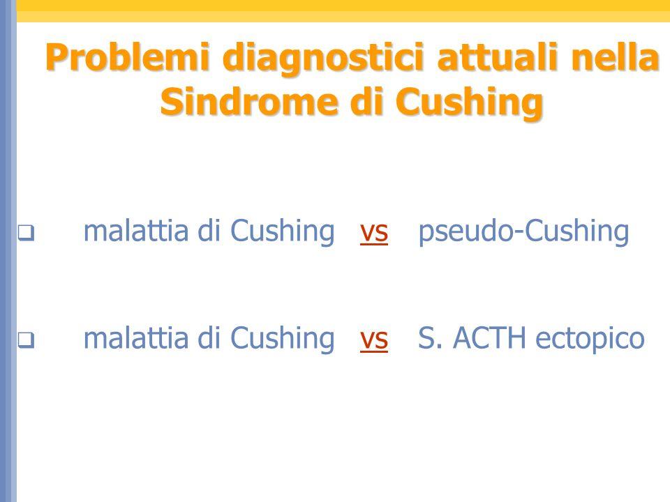 Problemi diagnostici attuali nella Sindrome di Cushing