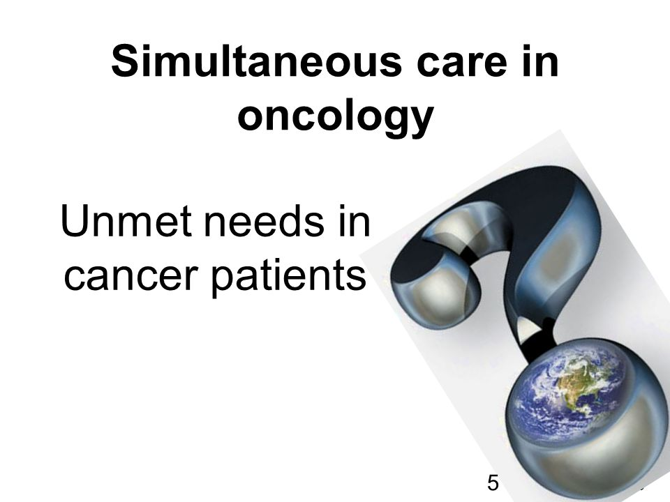 Simultaneous care in oncology