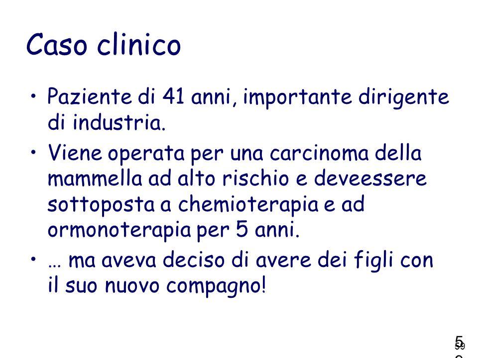 Caso clinico Paziente di 41 anni, importante dirigente di industria.