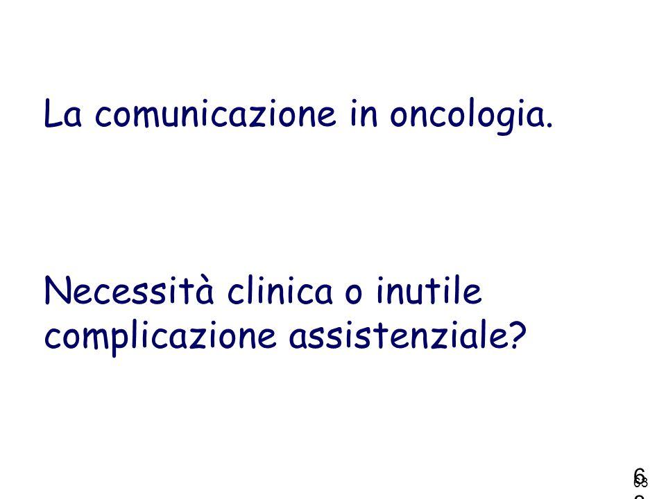 La comunicazione in oncologia