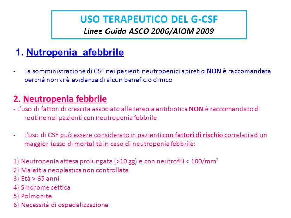 USO TERAPEUTICO DEL G-CSF