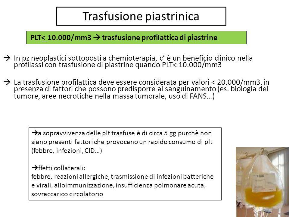 Trasfusione piastrinica