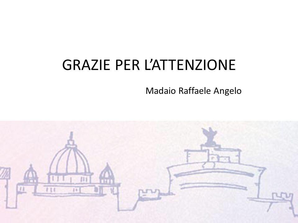 GRAZIE PER L'ATTENZIONE Madaio Raffaele Angelo