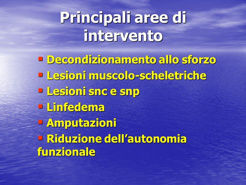 Principali aree di intervento