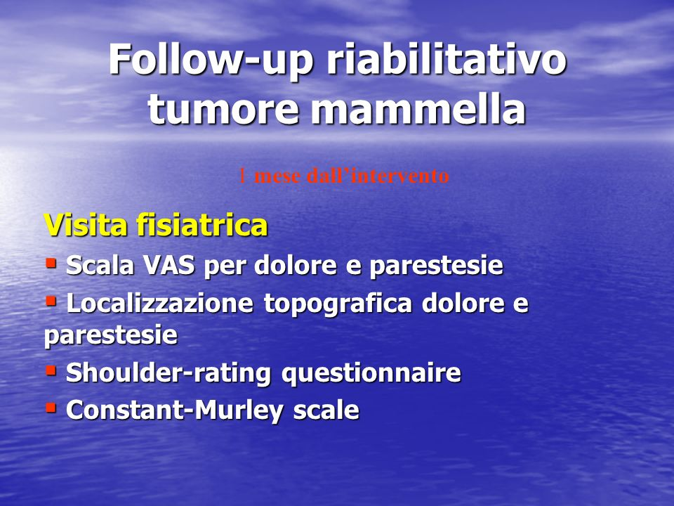 Follow-up riabilitativo tumore mammella