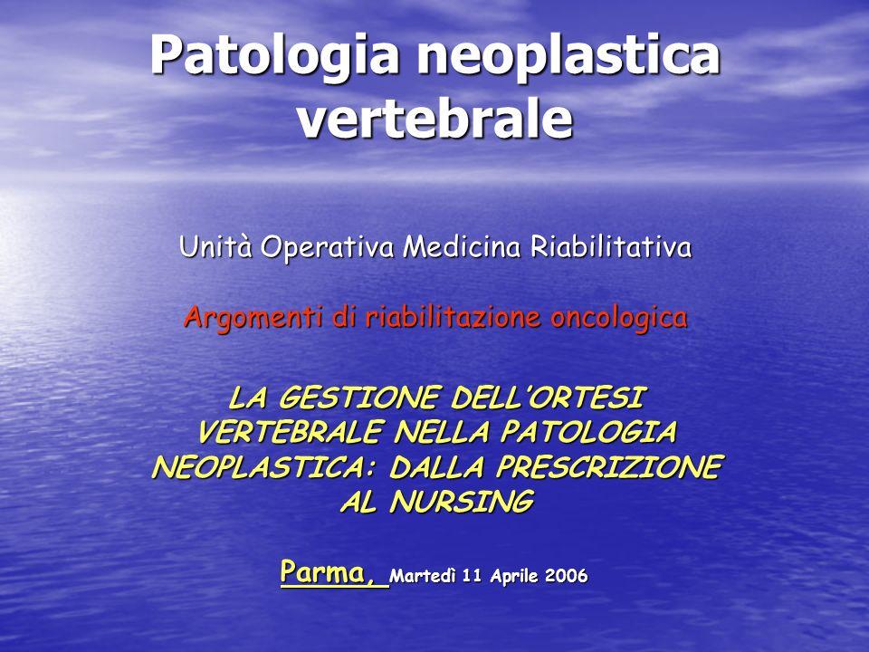 Patologia neoplastica vertebrale