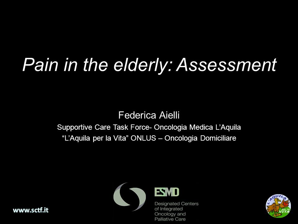 Pain in the elderly: Assessment
