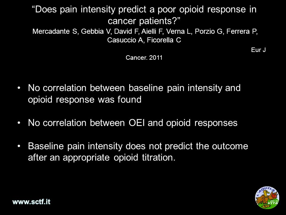 No correlation between OEI and opioid responses