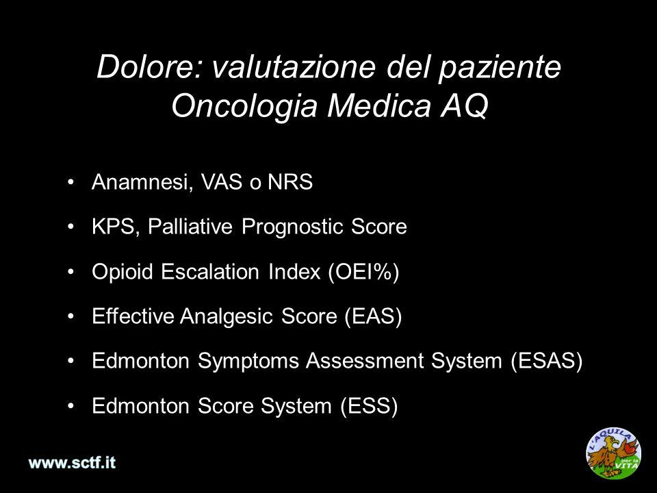 Dolore: valutazione del paziente Oncologia Medica AQ