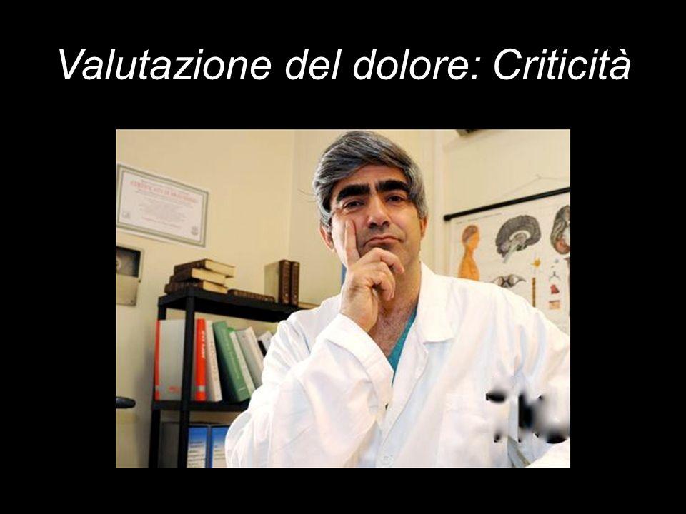 Valutazione del dolore: Criticità