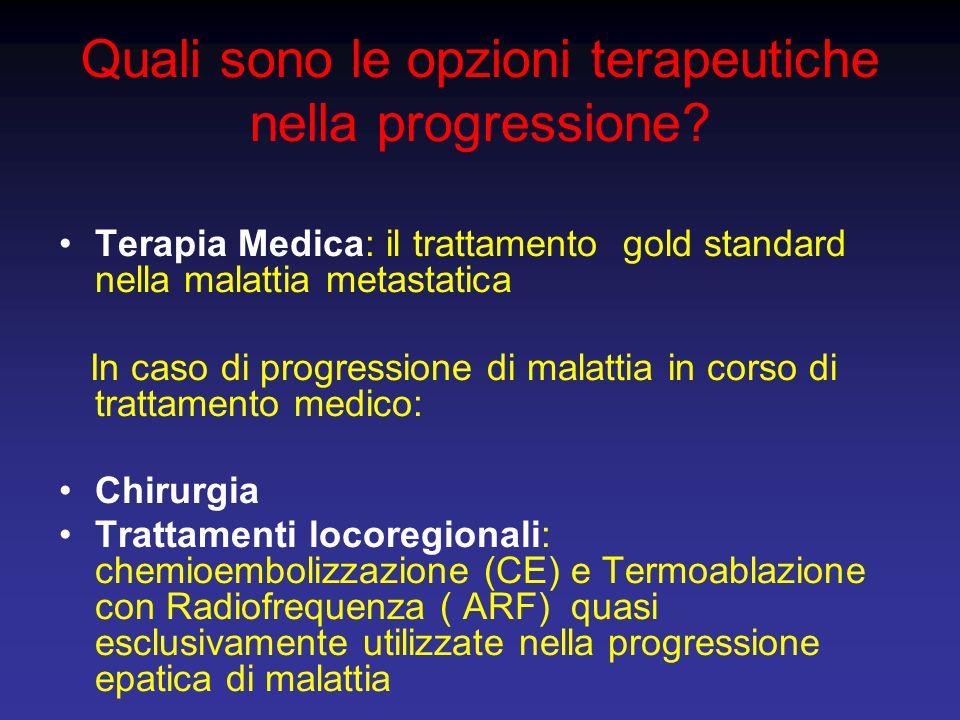 Quali sono le opzioni terapeutiche nella progressione
