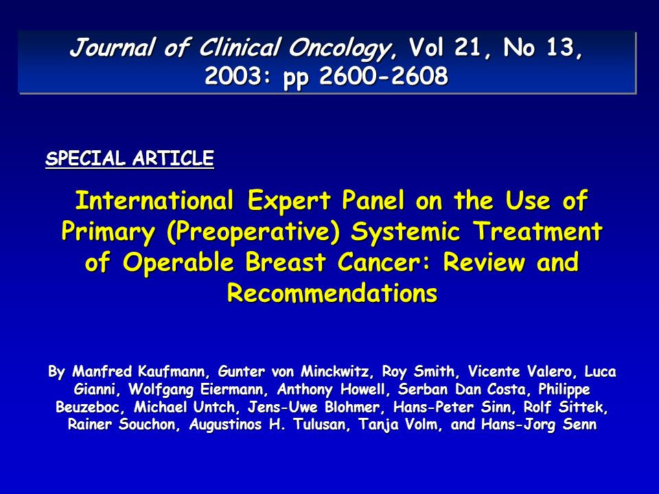 Journal of Clinical Oncology, Vol 21, No 13, 2003: pp