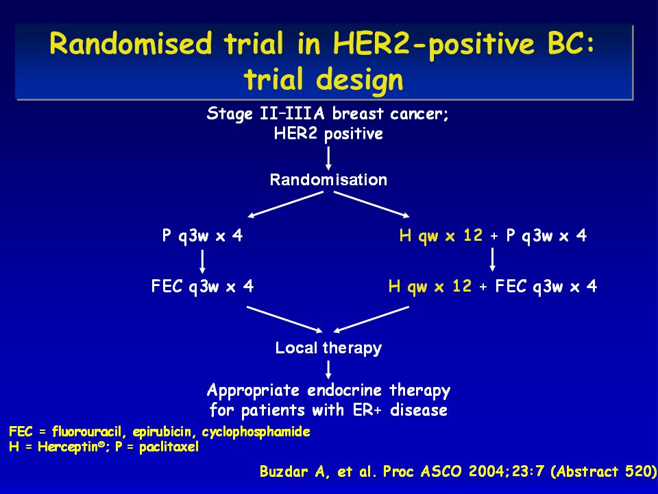 Randomised trial in HER2-positive BC: trial design