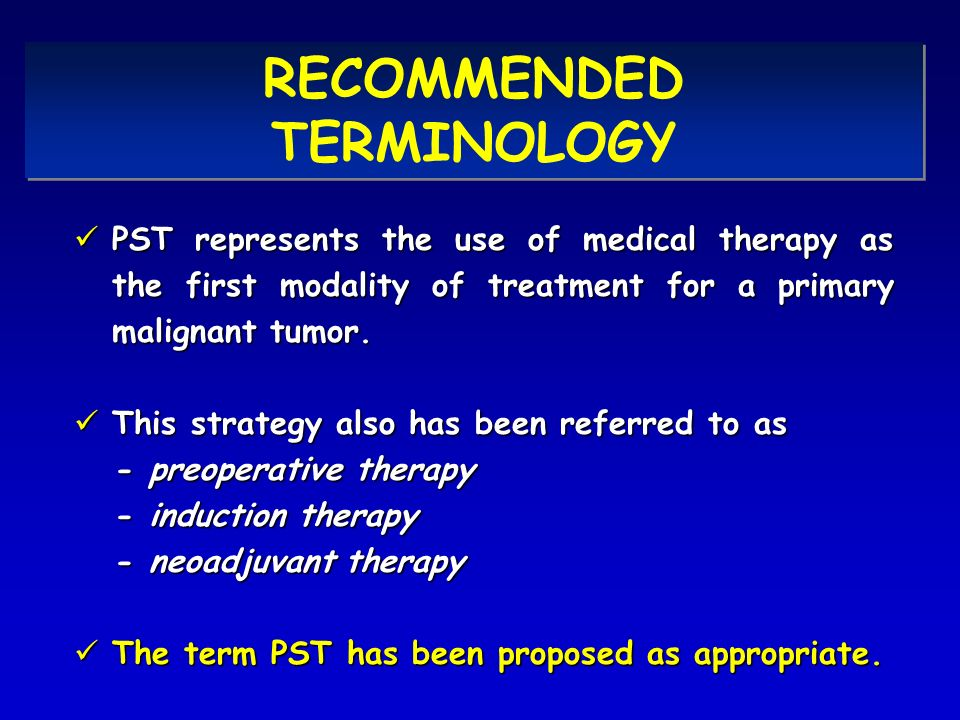 RECOMMENDED TERMINOLOGY