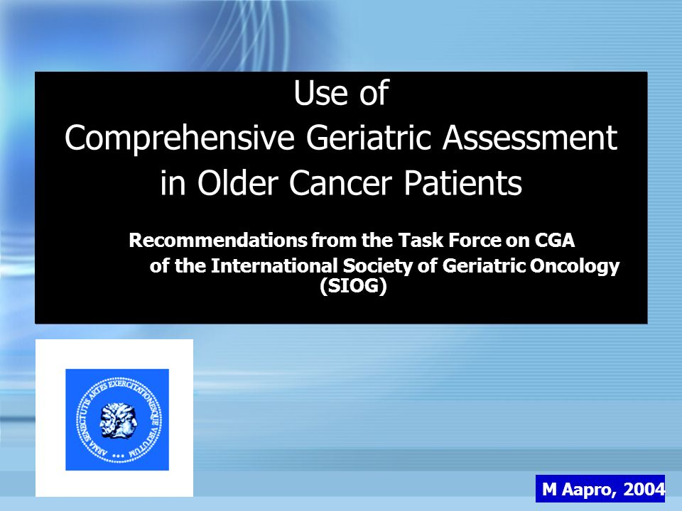 Comprehensive Geriatric Assessment in Older Cancer Patients