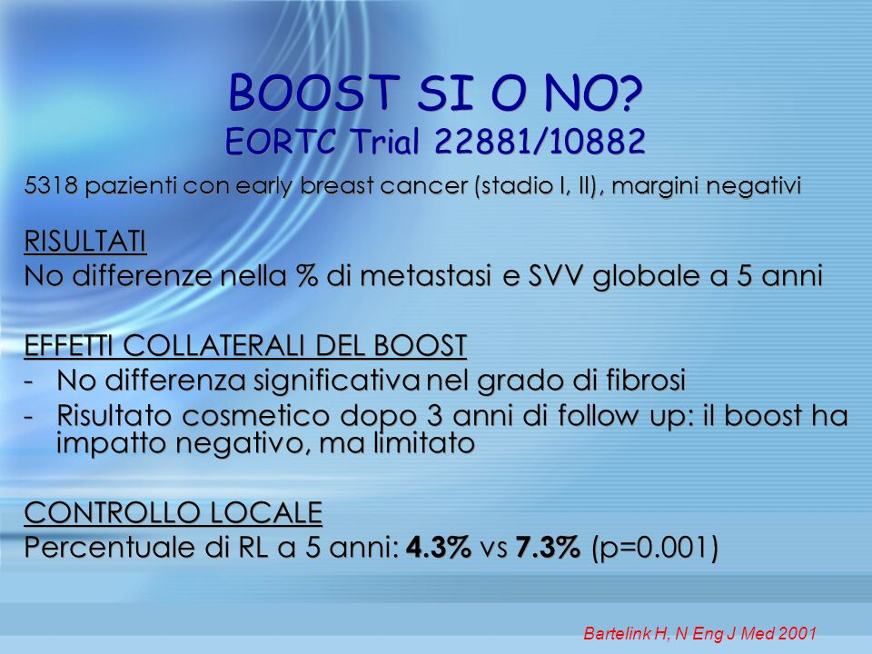 BOOST SI O NO EORTC Trial 22881/10882