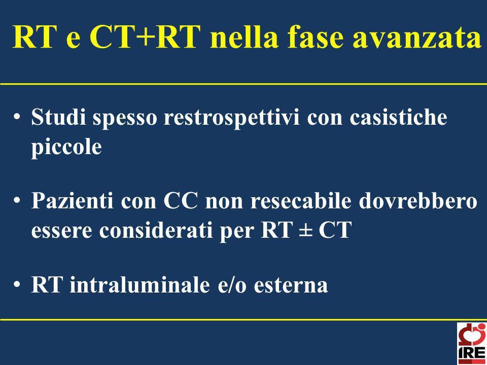 RT e CT+RT nella fase avanzata