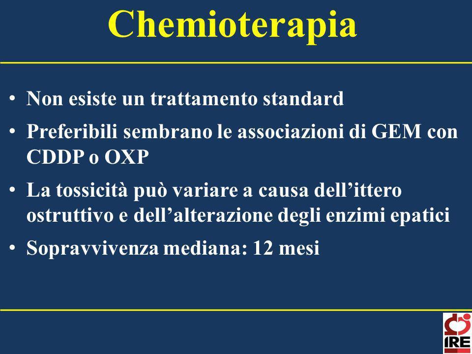 Chemioterapia Non esiste un trattamento standard
