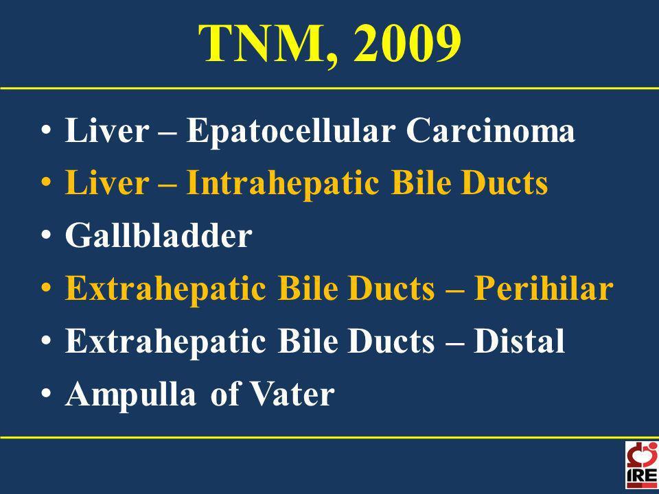 TNM, 2009 Liver – Epatocellular Carcinoma
