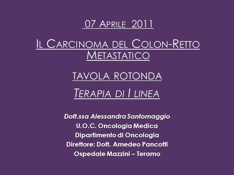 Terapia di I linea Il Carcinoma del Colon-Retto Metastatico