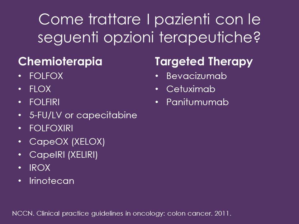 Come trattare I pazienti con le seguenti opzioni terapeutiche