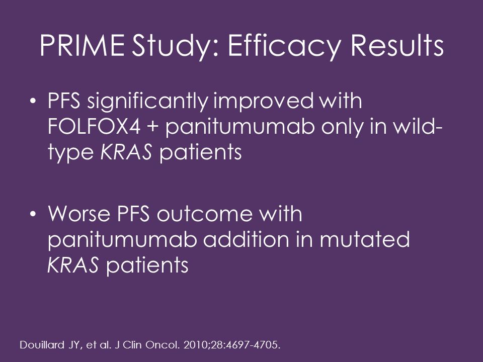 PRIME Study: Efficacy Results