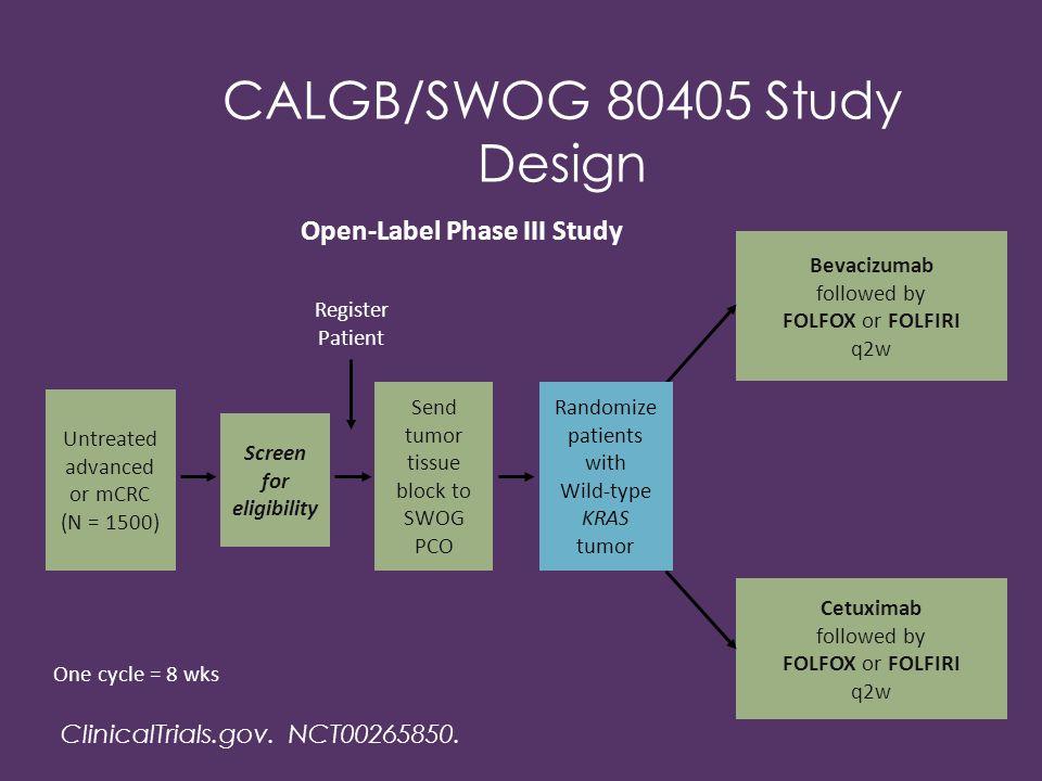 CALGB/SWOG 80405 Study Design