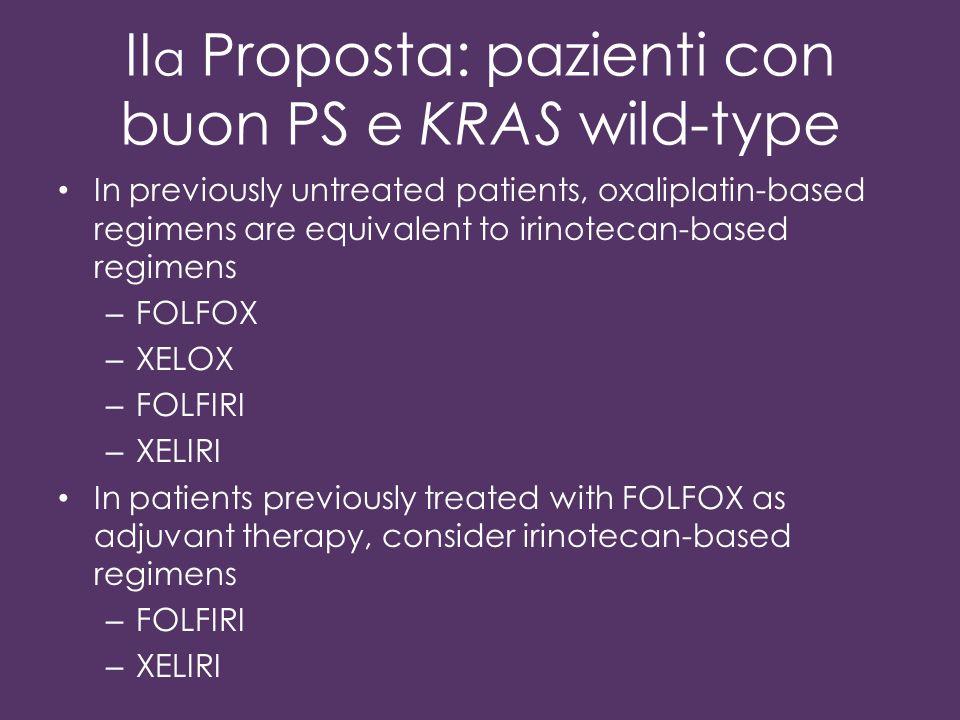IIa Proposta: pazienti con buon PS e KRAS wild-type