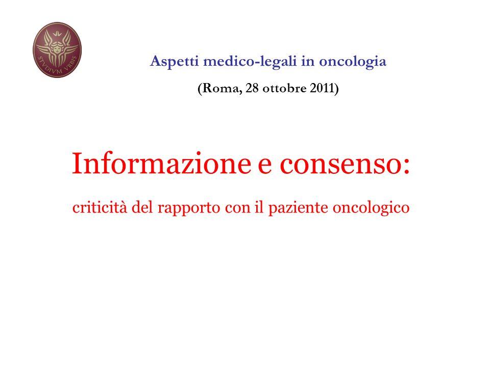 Aspetti medico-legali in oncologia