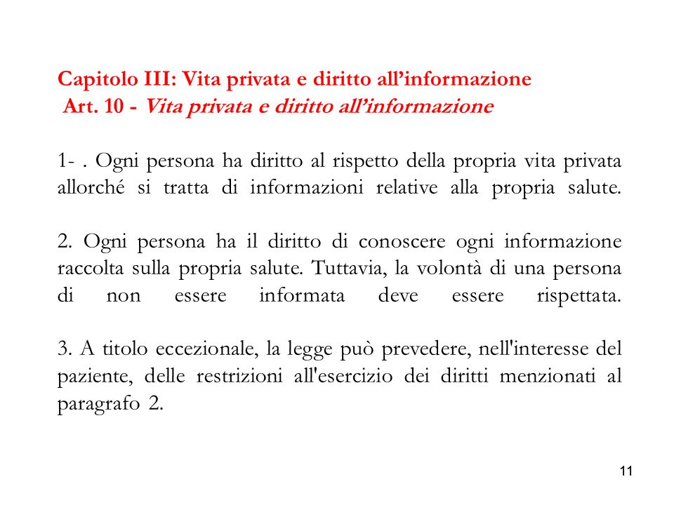 Capitolo III: Vita privata e diritto all'informazione
