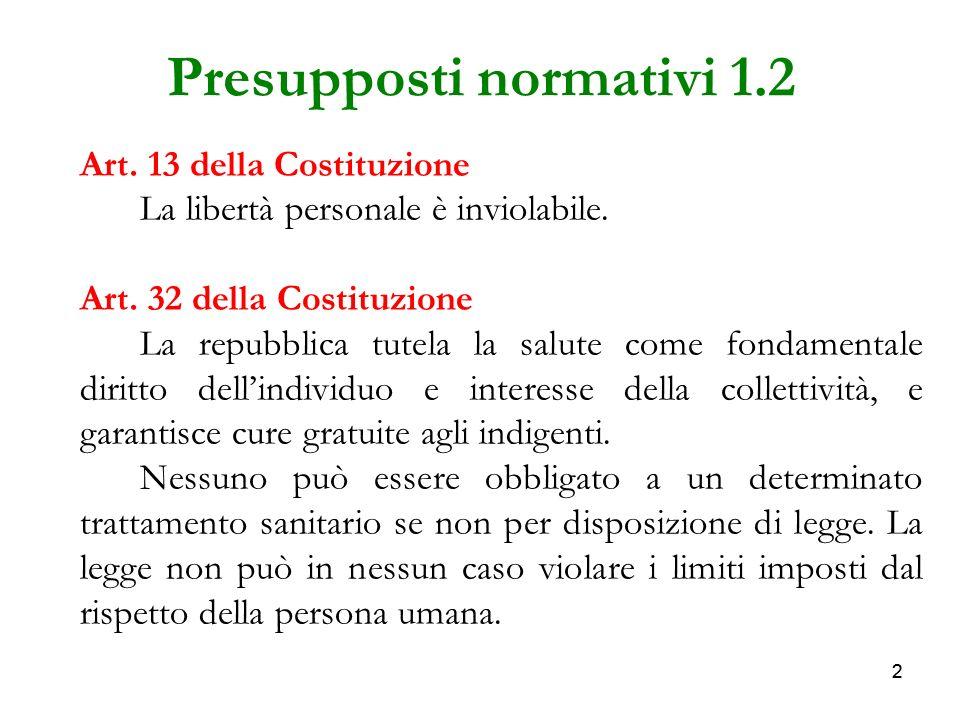 Presupposti normativi 1.2